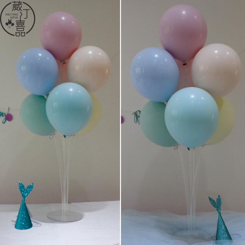 气球桌飘立柱甜品台布置装饰结婚派对生日活动桌面ins网红用品