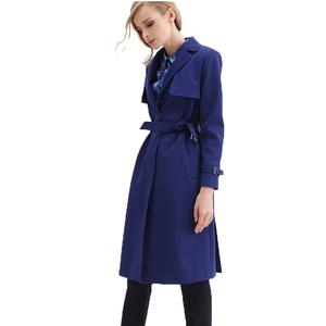 Ports/宝姿女装秋冬纯色大翻领风衣保暖外套LB9T014LWQ003