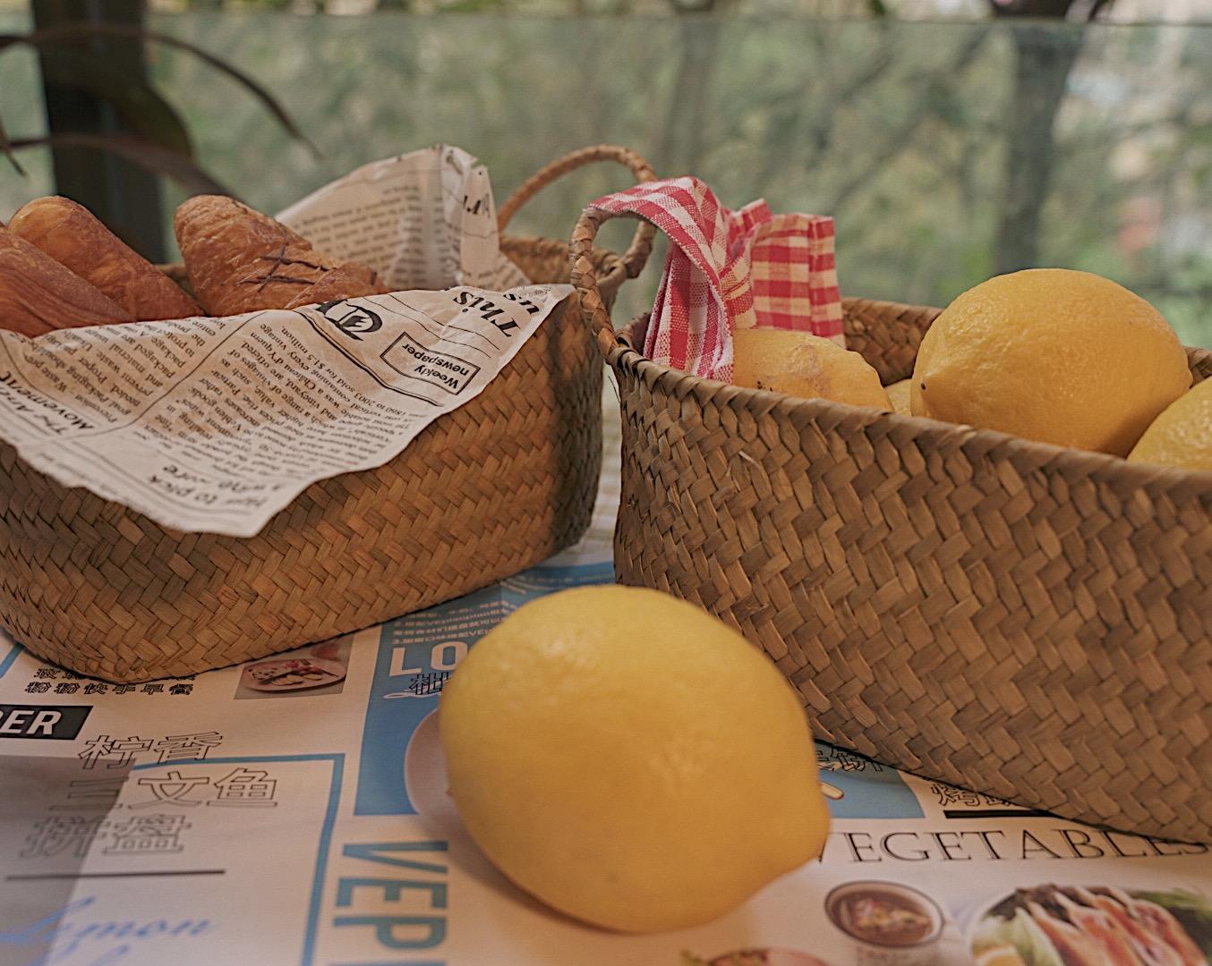 日式ins实用藤编收纳质感篮菜篮水果篮手提篮野餐篮