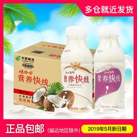 娃哈哈营养快线椰子味定制款350ml*12瓶含乳饮料发整箱牛奶乳酸图片