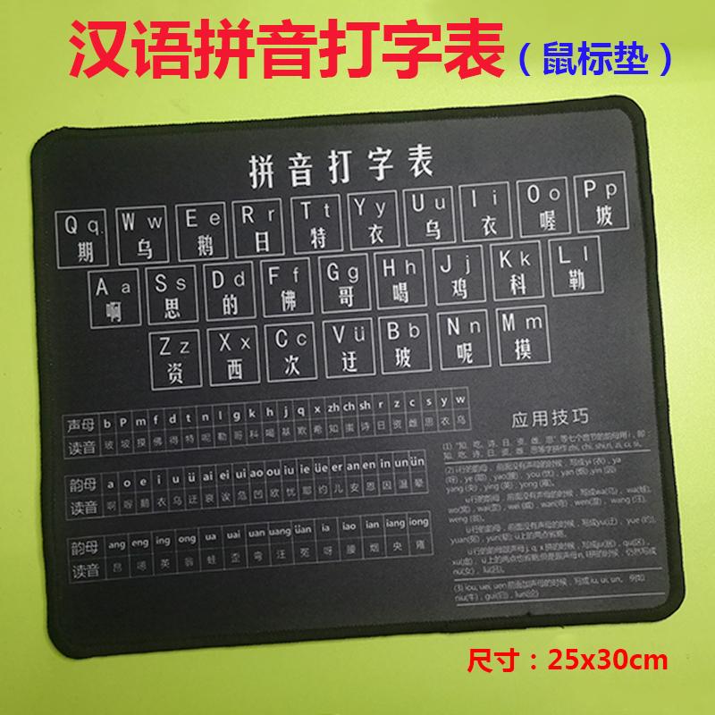 高清汉语拼音+Office常用快捷键鼠标垫 电脑打字学习老人小孩通用