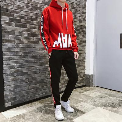 2019新款男土春季套装卫衣两件套青少年男外套春装男装A203-P90