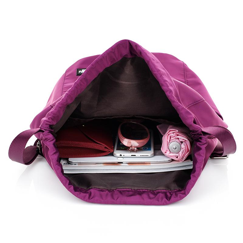 尼龙束口袋抽绳系带折叠双肩包男女学生书包轻便防水旅行休闲背包