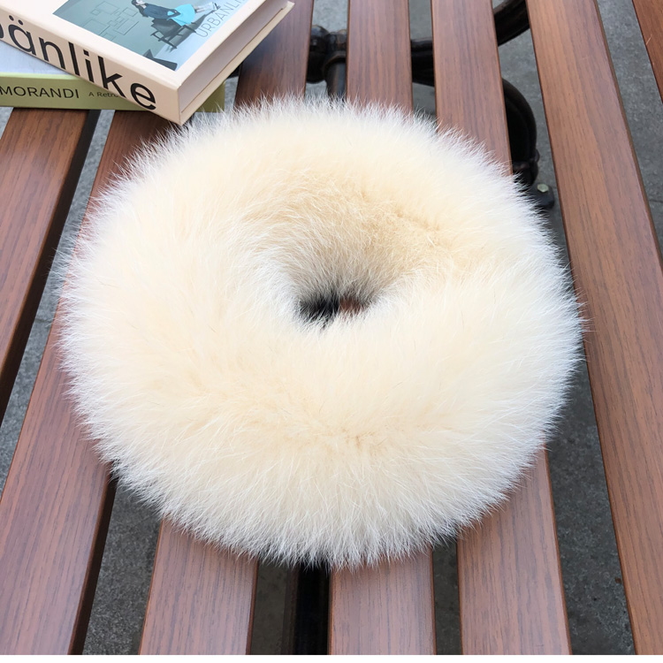 Double sided fox hair scarf whole skin real wool Bib suction button small short girls warm neck cover fur collar in winter