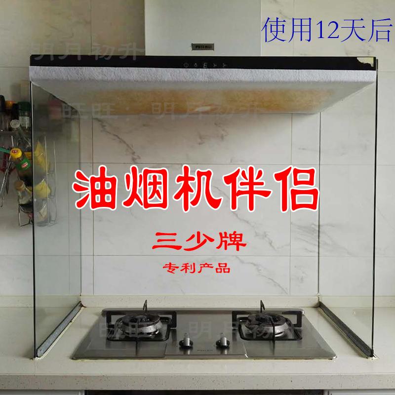 三少牌抽油烟机伴侣厨房防油贴纸家用吸油烟机过滤网吸油纸10张