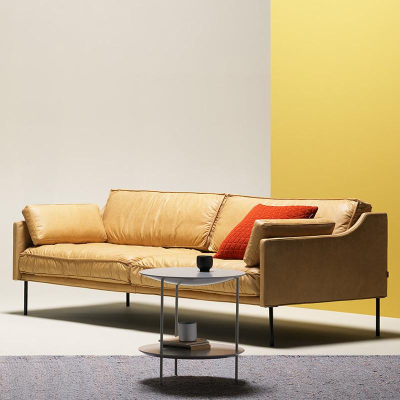 现代简约真皮沙发 头层牛皮 北欧小户型客厅单双三人皮艺沙发组合990.00元包邮
