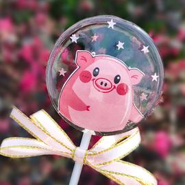 创意手工猪猪棒棒糖烟花婚礼伴娘伴手礼男女生日礼物零食