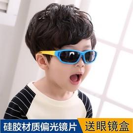 儿童太阳眼镜女男童太阳镜小孩运动软硅胶太阳眼镜宝宝偏光墨镜图片