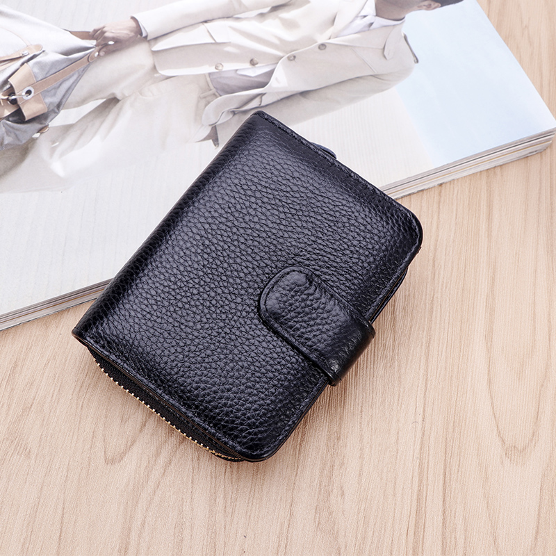 Real pickup bag mens driving license leather case womens simple multi-functional large capacity Wallet Credit card drivers license
