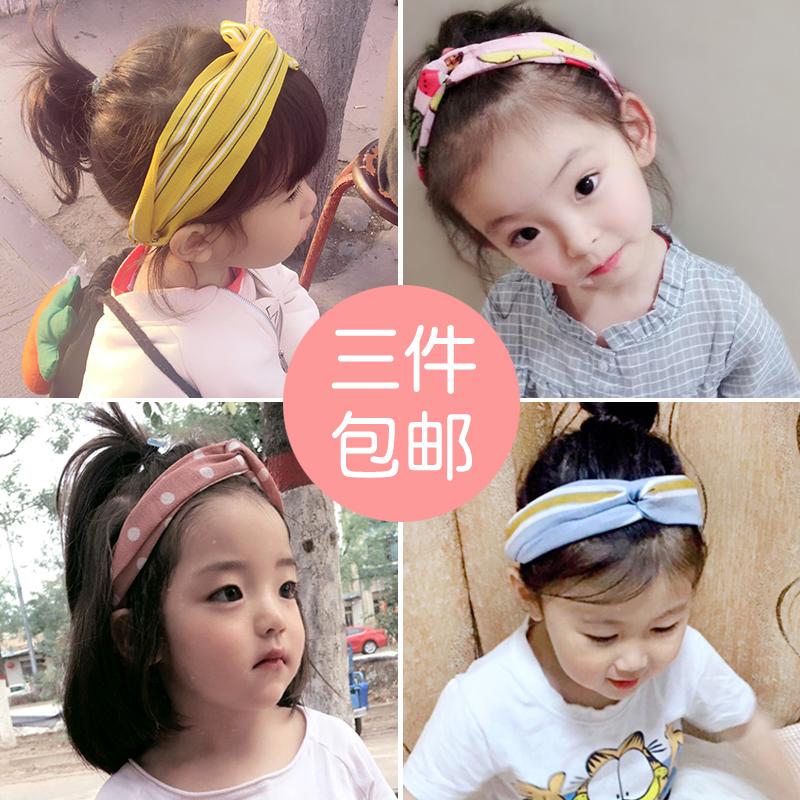 儿童发带韩国小女孩公主可爱百搭头箍宝宝发箍潮妞布艺女童头饰