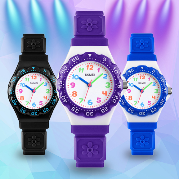 Time beauty new childrens watch color digital scale pattern childhood sports waterproof quartz watch for boys and girls