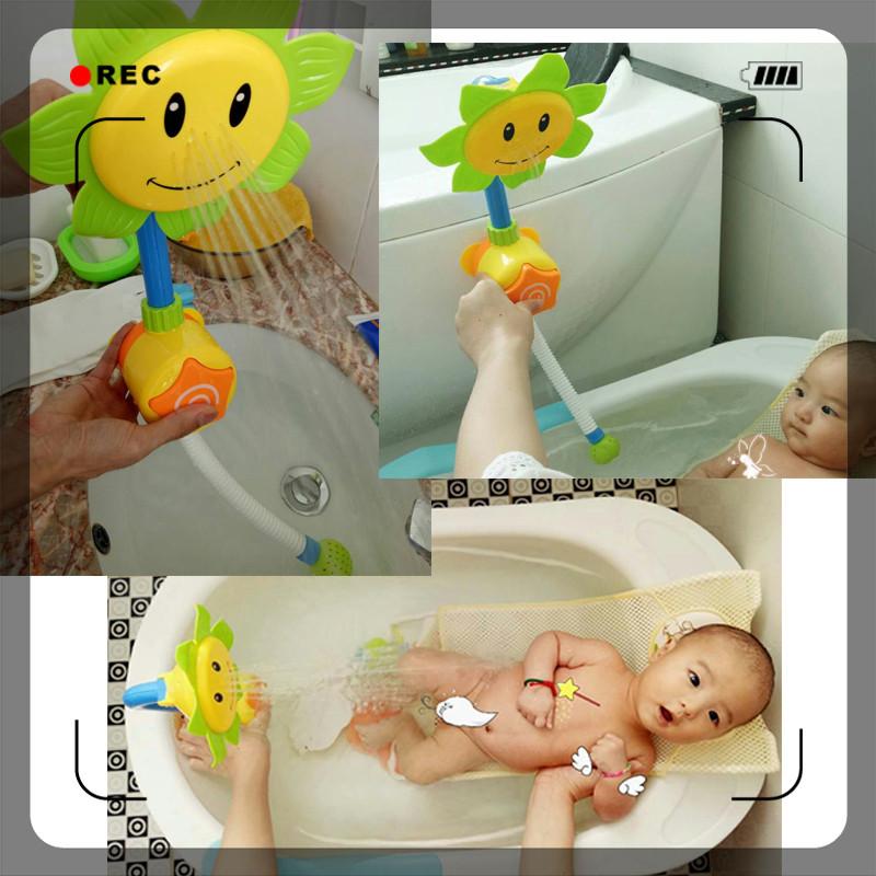 Дети волны брызг душ посыпать подсолнечника душ кран спрей спрей Ванна ванна игрушки