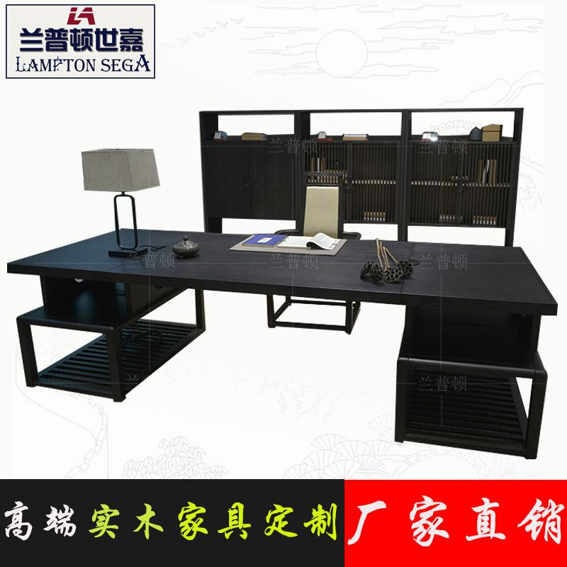 Новый китайский стиль письменный стол алтарь смысл дерево письменный стол стул общий вырезать большой класс тайвань стол вилла модель дом мебель сделанный на заказ