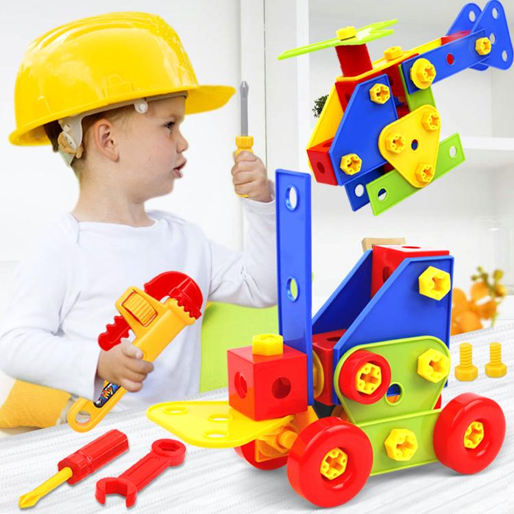 Ребенок головоломка собранный игрушка DIY творческий сборка строительные блоки винт гайка разборка комбинированный набор крупных частиц