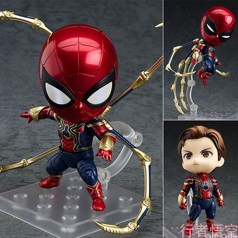 GSC复仇者联盟4钢铁蜘蛛人英雄远征Q版战衣复联3手办模型玩具玩偶