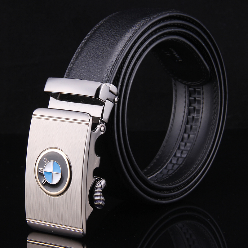 Leather belt, mens fashion, leather, automatic buckle, young peoples middle-aged and old peoples pants belt, BMW fashionable and versatile belt