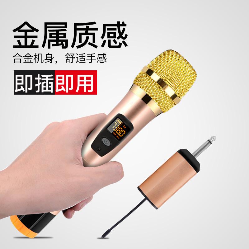 歌充电无线麦克风一拖二双咪K无线话筒耳麦带接收器户外舞台音响