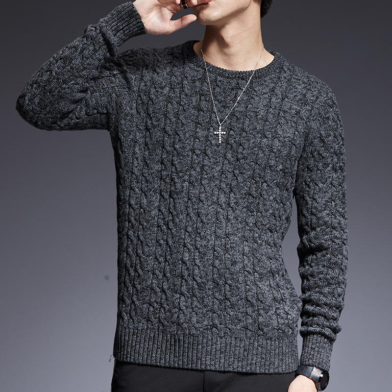 男毛衣New Fashion Brand Sweaters Man Pullovers O-Neck Slim