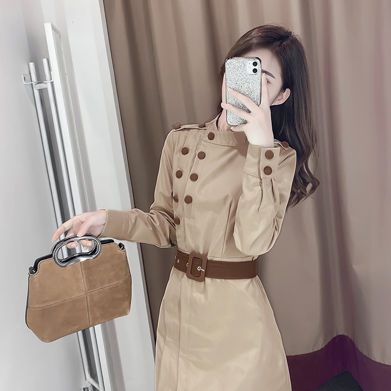 溫柔風連衣裙2020年流行女裝新款春季收腰氣質顯瘦裙子女神范衣服
