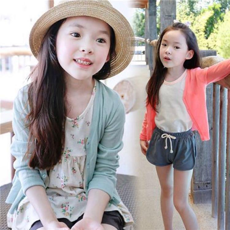 女童空調衫薄款夏季冰絲兒童開衫薄外套洋氣寶寶外搭防曬衣針織衫