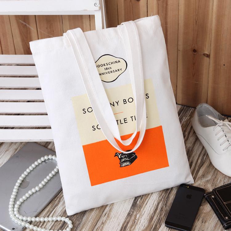 满包邮 优质帆布便携环保袋单肩包超市购物袋 结实耐用无污染手袋