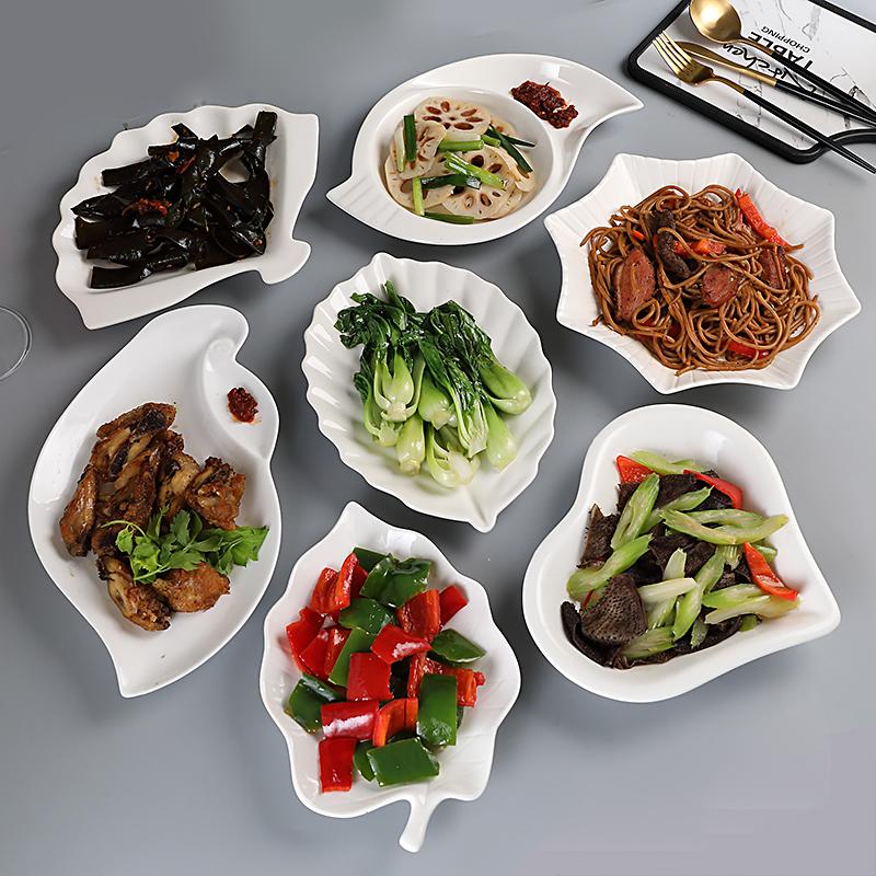 Fruit plate creative household irregular northern European tableware ceramic Western dish simple net red cake shallow plate