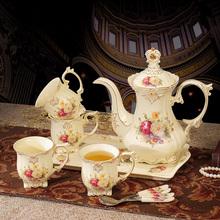 下午茶咖啡杯套裝 茶壺整套結婚禮物 茶具套裝 帶托盤陶瓷英式 歐式