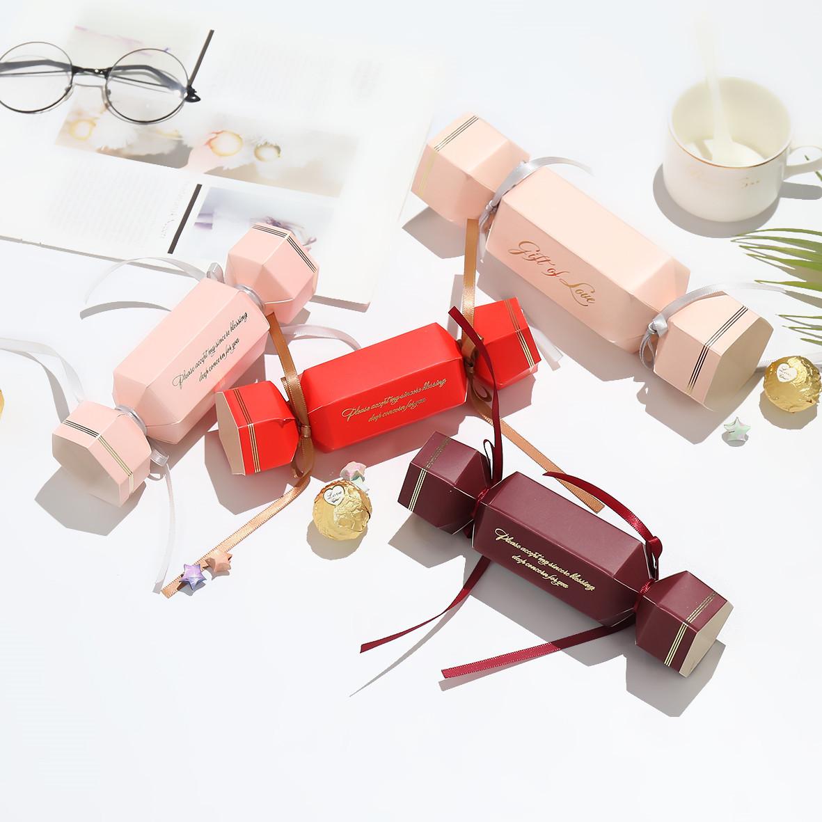 新款喜糖盒大容量糖果造型韩式婚礼ins伴手礼 创意糖盒礼盒可放烟