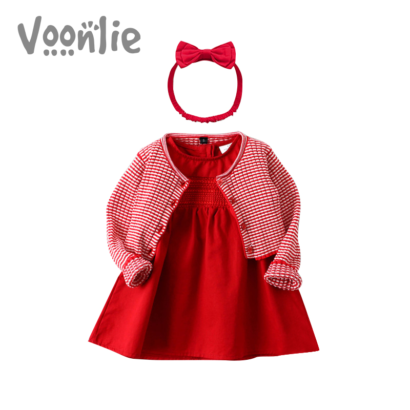 Where hunting children's clothing baby girl dress autumn and winter princess dress red new year greeting baby one year old dress