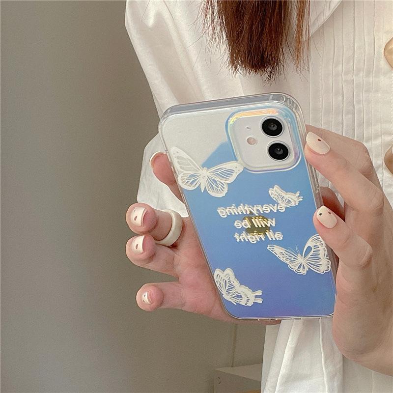 中國代購|中國批發-ibuy99|iphone 7 plus|日韩蝴蝶适用iphone12pro/max苹果11手机壳xr镭射x渐变xs女8plus7