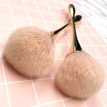 高光刷子修容刷粉底刷腮红刷古典棕火苗散粉刷纤维毛化妆刷