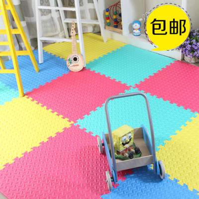 家用儿童拼图泡沫地垫30x30cm拼接铺地板垫子宝宝爬行垫小号加厚