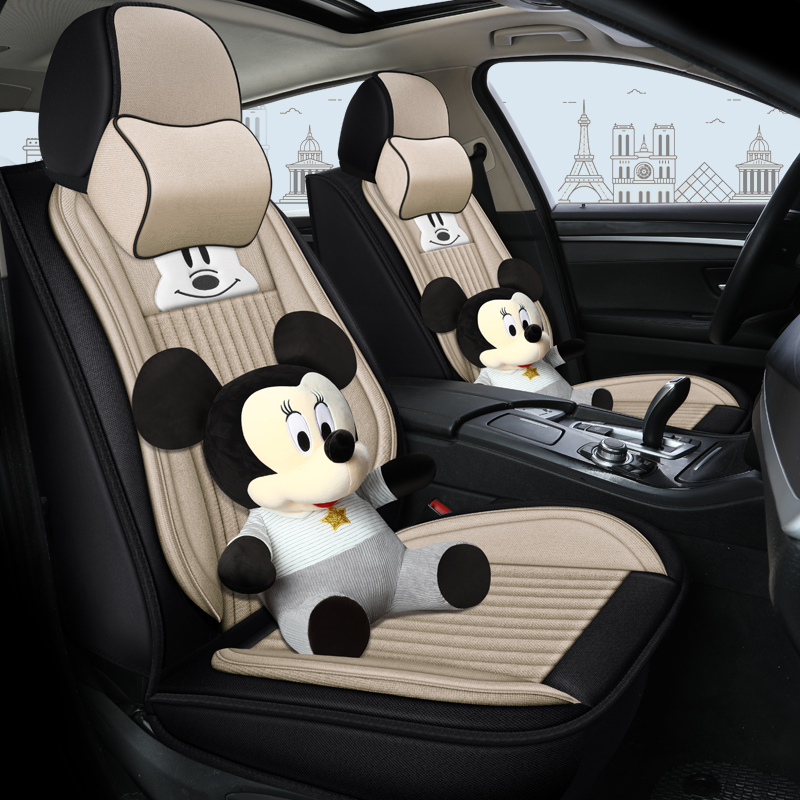 2017 2018 model 2019 new Toyota leiling special purpose vehicle seat cushion full package cotton hemp four seasons universal seat cover