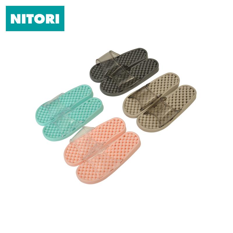 Япония NITORI нигерия достигать прибыль ванная комната скольжение отверстие обувь прозрачный домой шлепанцы купаться мягкое дно бездельник прохладно торможение