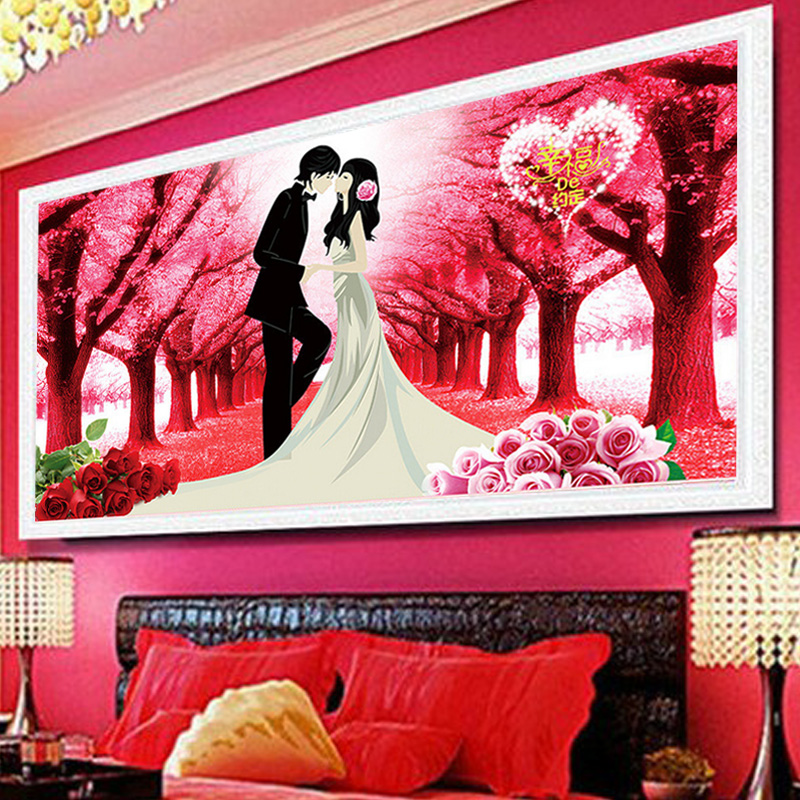 Cross stitch 5D diamond square diamond full diamond new bedroom wedding couple living room true love forever diamond embroidery