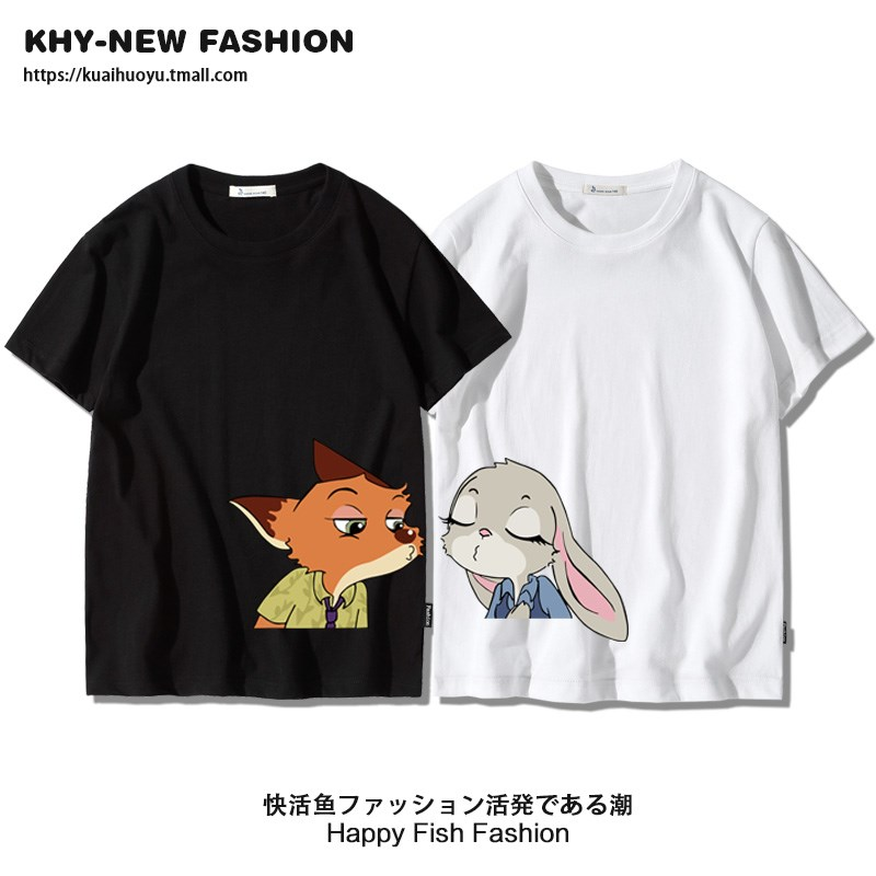 Crazy animal City lovers short sleeve clothes lovers summer wear 2019 new ins fashion small crowd design t-shirt