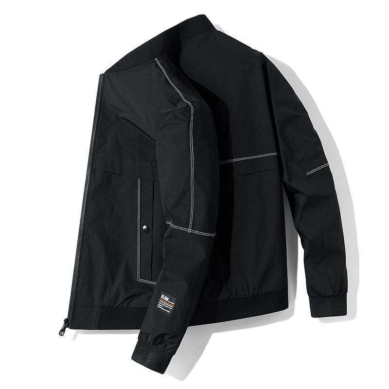 2020年春季日系新款潮流纯色外套男青少年棒球领夹克男JK0066-P55