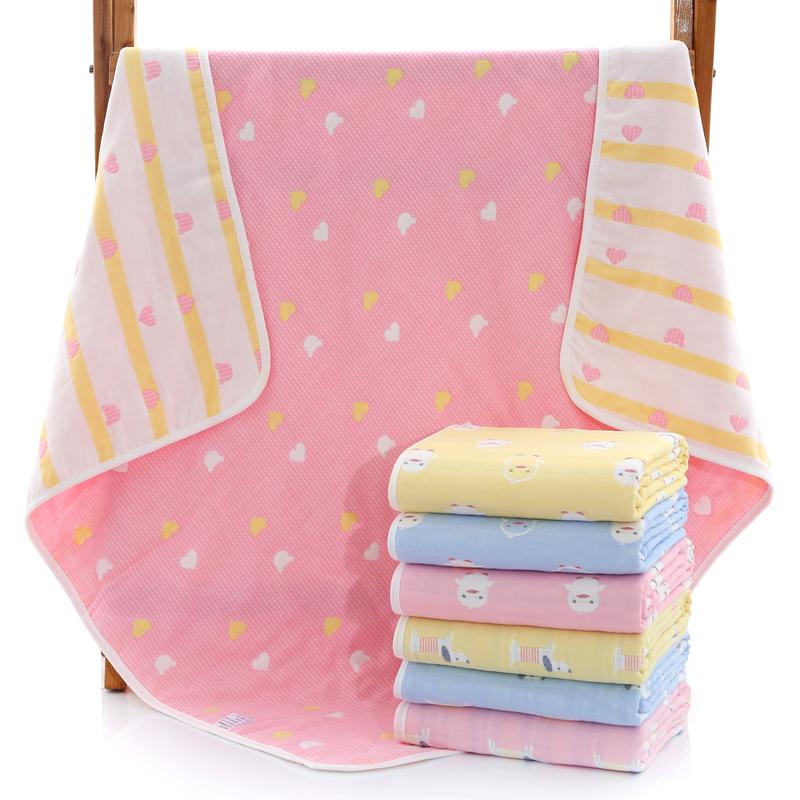 婴儿浴巾纱布六层纯棉吸水洗澡盖毯宝宝新生儿童盖被毛巾被子抱被热销44件限时抢购