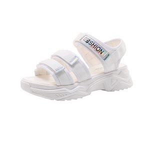 2021新款真皮大东厚底夏季沙滩鞋