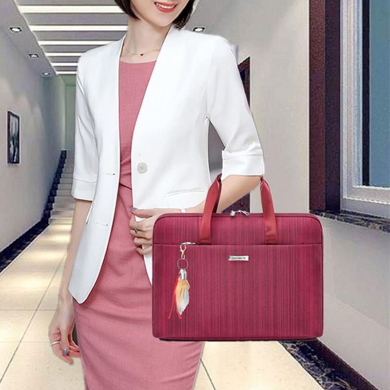 时尚商务手提尼龙布文件公文包邮差职业工作14寸平板电脑包男女