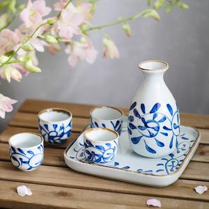日式陶瓷手绘系列酒具套装分酒器清酒具家用白酒杯烈酒杯烧酒壶