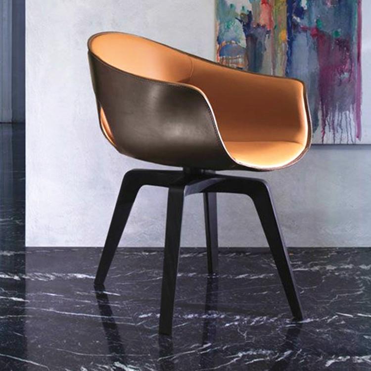 Ginger chair玻璃钢旋转扶手样板房穿孔休闲姜椅经典设计师家具