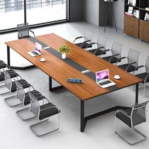 大型烤漆会议桌长桌简约现代会议室培训桌长条桌接待洽谈桌椅组合