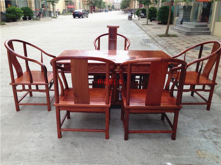 缅甸花梨休闲茶桌 花梨木功夫茶桌 大果紫檀红木实木住宅家具