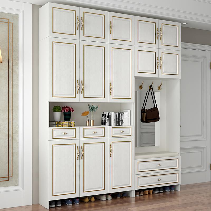 鞋柜家用大容量多功能欧式收纳简约现代门口轻奢储物玄关门厅柜子