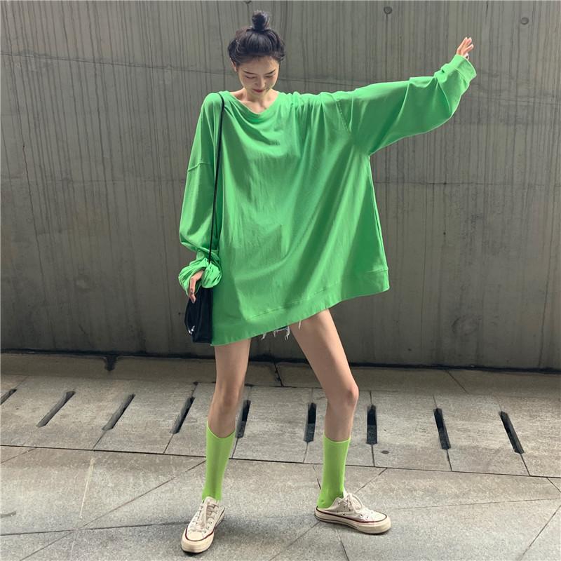 热销0件买三送一秋季韩版chic宽松长袖下体失踪t恤