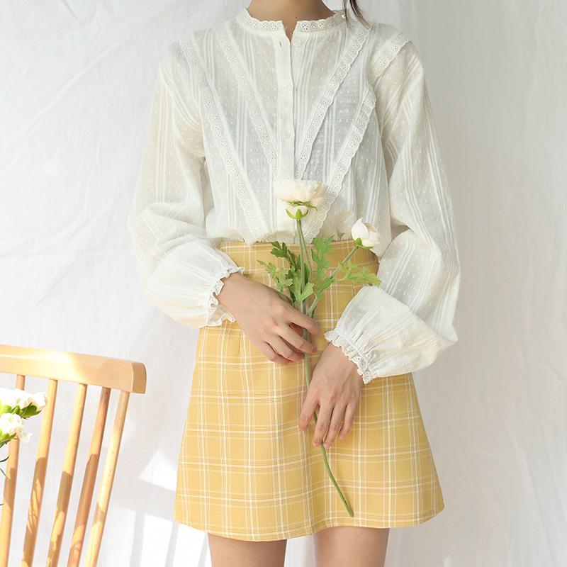 新品ins衬衫女港风 秋季女装长袖2018春装白色新款上衣M150C