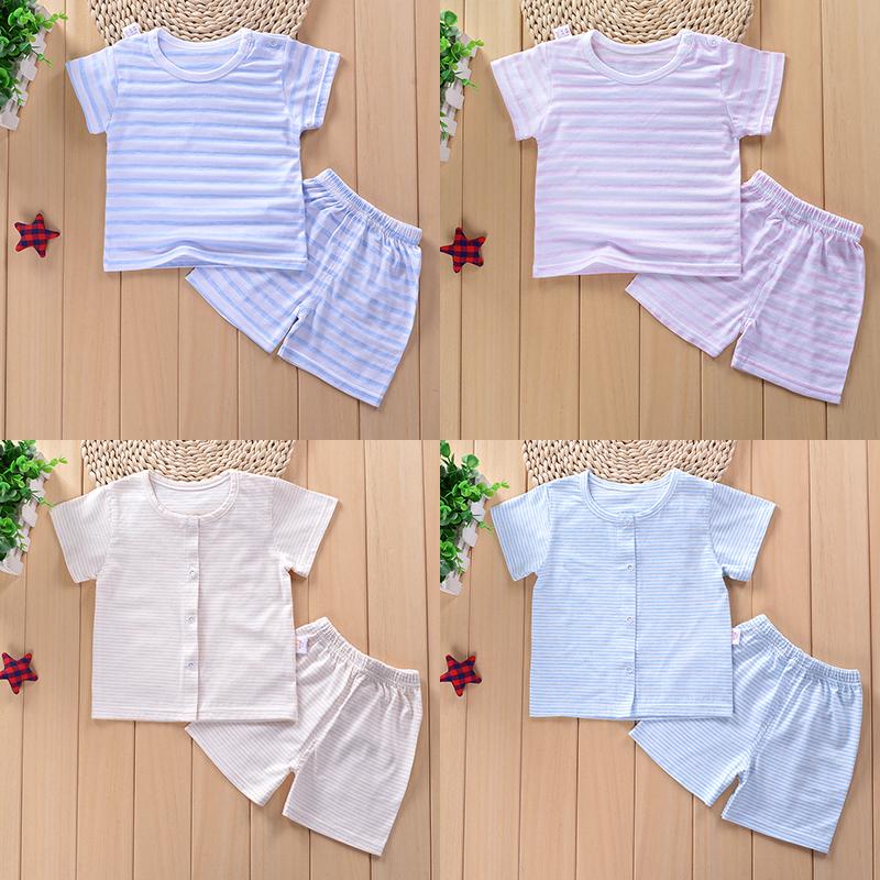 婴儿衣服夏季女宝宝短袖套装幼儿夏装0男1纯棉3岁半袖6夏天12个月