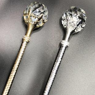 水晶球玩具魔法棒權杖國王手杖兒童公主仙女舞台道具小女孩表演出