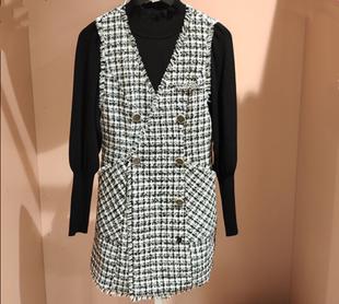 ONLY LIC2019冬季新款两件套小香风气质连衣裙女|120107527